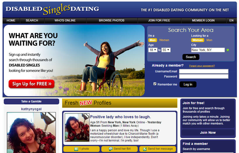Disabled dating sites for free